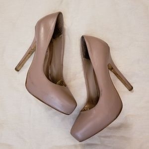 Blush nude pumps